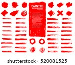 painted grunge stripes set. red ... | Shutterstock .eps vector #520081525