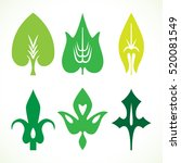decorative green leaves pattern ... | Shutterstock .eps vector #520081549