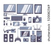 gadgets icons set. different... | Shutterstock .eps vector #520082569