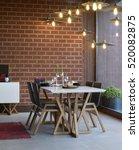 interior of a modern dining... | Shutterstock . vector #520082875