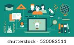 e learning  education and... | Shutterstock .eps vector #520083511