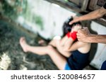woman bondage in angle of... | Shutterstock . vector #520084657
