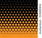 yellow honeycomb and black... | Shutterstock .eps vector #520085854