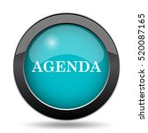 agenda icon. agenda website... | Shutterstock . vector #520087165