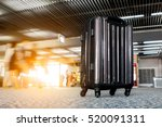 suitcases in airport departure...   Shutterstock . vector #520091311