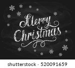 lettering merry christmas... | Shutterstock .eps vector #520091659