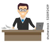 illustration of a business man... | Shutterstock .eps vector #520092439