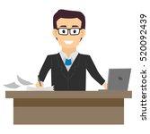 illustration of a business man... | Shutterstock .eps vector #520092439