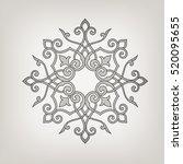 circular abstract floral... | Shutterstock .eps vector #520095655