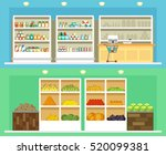 shop interior with store... | Shutterstock .eps vector #520099381