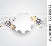 vector illustration gear wheel  ... | Shutterstock .eps vector #520100335