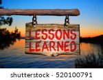 lessons learned motivational... | Shutterstock . vector #520100791