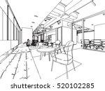 interior outline sketch drawing ... | Shutterstock .eps vector #520102285