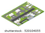 isometric 3d city airport with... | Shutterstock .eps vector #520104055
