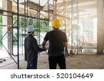 engineer and architect working... | Shutterstock . vector #520104649