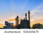 gas turbine electrical power... | Shutterstock . vector #520105675