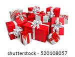 fashionable pile of red and... | Shutterstock . vector #520108057