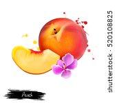 Peach Illustration Isolated On...