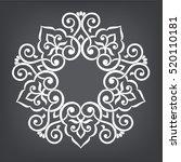 circular abstract floral... | Shutterstock .eps vector #520110181