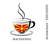 coffee logo made from the flag... | Shutterstock .eps vector #520110541