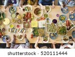 food catering cuisine culinary... | Shutterstock . vector #520111444