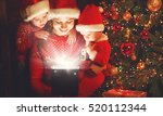happy family on christmas eve.... | Shutterstock . vector #520112344