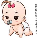 vector illustration of cartoon... | Shutterstock .eps vector #520113004