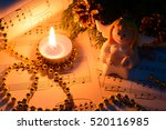 christmas decorations  candles  ... | Shutterstock . vector #520116985