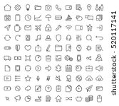 100 thin line universal icons... | Shutterstock .eps vector #520117141