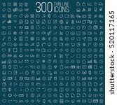300 thin line universal icons... | Shutterstock .eps vector #520117165