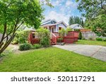 Backyard Of Craftsman Home Wit...