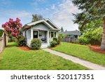 cute craftsman home exterior... | Shutterstock . vector #520117351