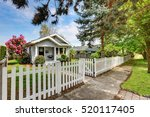 cute craftsman home exterior... | Shutterstock . vector #520117405