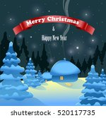christmas and new year greeting ... | Shutterstock .eps vector #520117735