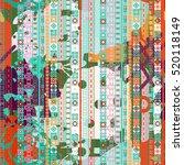 tribal art print. boho. ethnic. ... | Shutterstock .eps vector #520118149