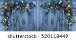 Christmas Banner With Fir Tree...