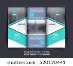 a4 document and brochure ... | Shutterstock .eps vector #520120441