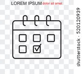 line icon  calendar | Shutterstock .eps vector #520120939