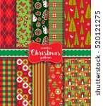 christmas seamless background... | Shutterstock .eps vector #520121275