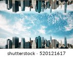 Abstract Upside Down Cityscape...