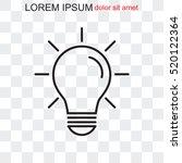 line icon  bulb idea | Shutterstock .eps vector #520122364