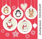 set of christmas characters... | Shutterstock .eps vector #520124149