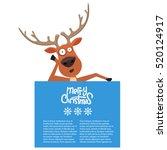 cartoon christmas santas... | Shutterstock .eps vector #520124917