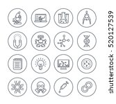 science and research line icons ... | Shutterstock .eps vector #520127539