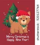 dog yorkshire terrier. puppy... | Shutterstock .eps vector #520127764