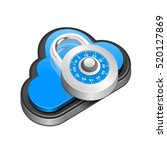 cloud security icon with... | Shutterstock .eps vector #520127869