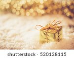 christmas retro gold box in the ...