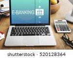 online banking payment finance... | Shutterstock . vector #520128364