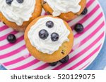 sweet delicious muffins with... | Shutterstock . vector #520129075