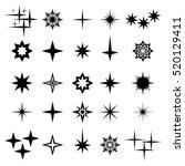 vector illustration of sparks... | Shutterstock .eps vector #520129411